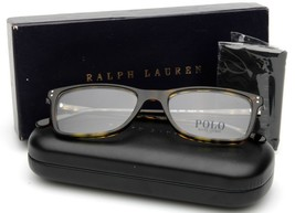 New Polo Ralph Lauren Ph 2155 5003 Shiny Dark Havana Eyeglasses Frame 54-18-145 - $98.98