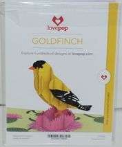 Lovepop LP1960 Goldfinch Pop Up Card Purple Slide Out Note Cellophane Wrapped image 7