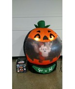 Halloween Ghosts Airblown Inflatable 6 FT Light Up Rotating Globe gemmy - $116.86