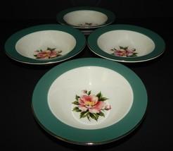 4 Homer Laughlin Century Service Empire Green Berry Fruit Bowl Alliance ... - $29.69
