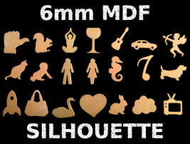 6mm thick MDF silhouette (various designs available) - $16.37