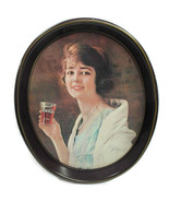 Coca-Cola Reproduction Flapper Girl Tray Brown Issued 1973 - $5.94