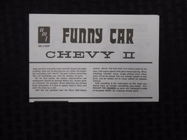 AMT 1962 FUNNY CAR CHEVY II MODEL CAR KIT INSTRUCTION SHEET - $9.95