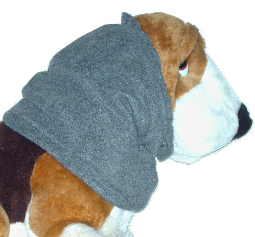 Charcoal Grey Anti Pill Fleece Dog Snood Basset Hound Springer Afghan Size Small