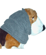 Charcoal Grey Anti Pill Fleece Dog Snood Basset Hound Springer Afghan Si... - $11.50