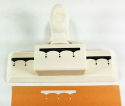 Martha Stewart Deep Edge Scallop Punch Simple Clean Delicate Border - $26.72