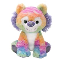 Baby Tiger Cub Rainbow Sherbet Plush Stuffed Animal Tie Dye Toddler Toy ... - $20.56