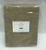 Pottery Barn Emery Drape Walnut 50x84 Linen Curtain 3-in-1 Pole Top 1 Panel - $84.99
