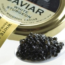 American Osetra White Sturgeon Caviar - Malossol, Farm Raised - 4.4 oz tin - $366.92