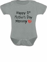 Gift For Mom - Happy First Mothers Day Mommy Infant Baby Bodysuit - $23.51