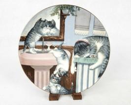 """Mischief Makers"" ~ Gre Gerardi Collector Plate, Country Kitties, #2037C - $6.81"