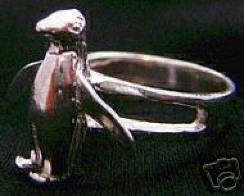 NICE 1762 Beautiful Penguin Ring Sterling Silver Jewelry