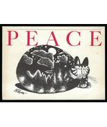 NOS Vtg 1978 B. KLIBAN CAT PEACE on EARTH Blank Greeting CARD Holiday Christmas - $14.84