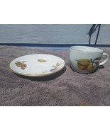 "Royal Worcester Eversham Vale Cup and Saucer 2 7/8""  set of 8 each  ENGL... - $53.41"