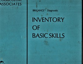 Brigance Diagnosdic Inventory Of Basic Skills by Albert Brigance  - $19.95