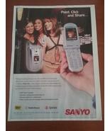 Vintage 2003 Sanyo SI Magazine Ad - $7.95