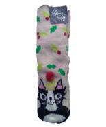 NIP Jacques Moret Women's Size 4-10 Beige Christmas Cat Socks - $10.84