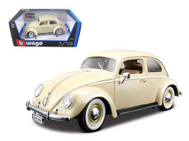 1955 Volkswagen Beetle Kafer Beige 1/18 Diecast Model Car by Bburago - $60.19