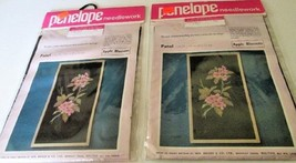 "Lot of 2 PENELOPE NEEDLEWORK Wm Briggs Panel APPLE BLOSSOMS 8"" x 15"" Kit... - $39.99"
