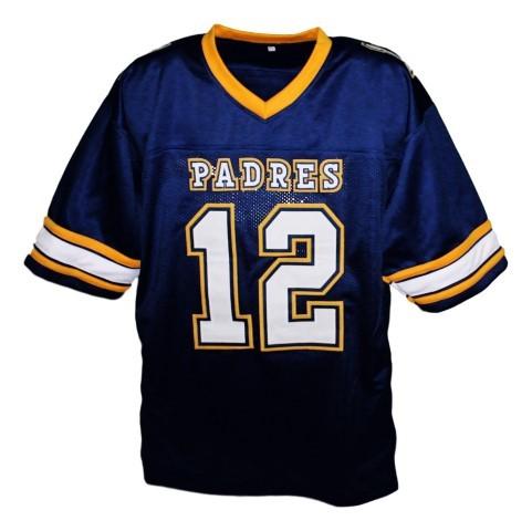 Tom brady  12 padres high school new men football jersey blue 1