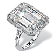 PalmBeach Jewelry 19.57 TCW Cubic Zirconia Platinum over .925 Silver Hal... - €99,04 EUR