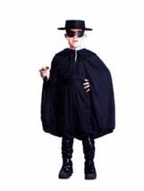 xcb170 ZORRO MASKED BANDIT Halloween Costume Large 12-14 - $26.13