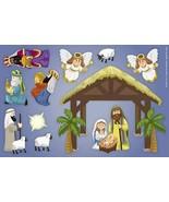 12 Pcs - Religious Nativity Manger Scene Magnet Decal Set - $29.65
