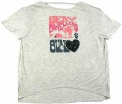 Medium Roxy Shirt Junior Women's Tee T-Shirt Cut-out Back Sea & Sun Lovers