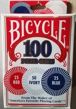 Bicycle Poker Chips - 100 count New - $1.95
