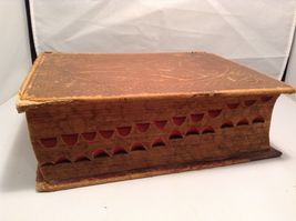 Antique Leather Bound Webster Dictionary  image 3