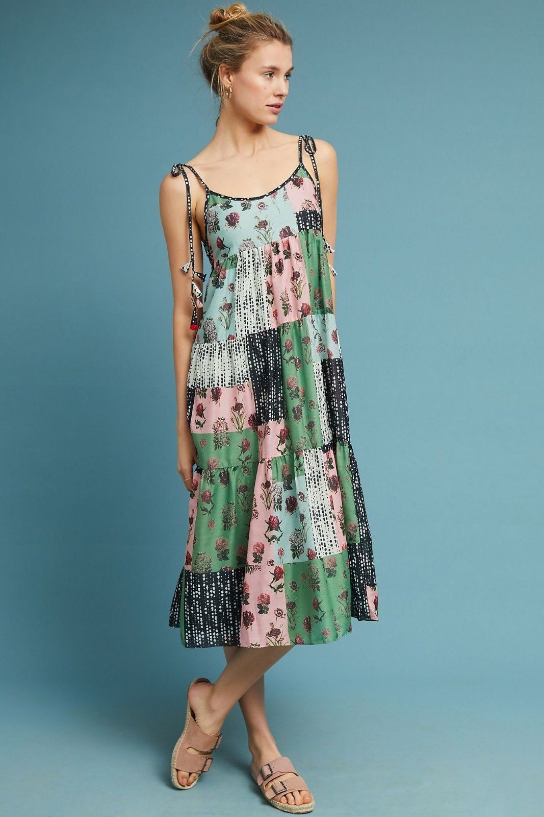 Primary image for NWT ANTHROPOLOGIE PLANTES MIX PRINT SWING DRESS by PALLAVI SINGHEE M