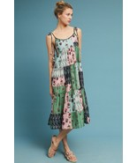 NWT ANTHROPOLOGIE PLANTES MIX PRINT SWING DRESS by PALLAVI SINGHEE M - $151.99