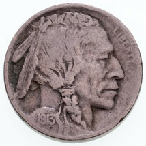 1913-S Type 1 Buffalo Nickel in Fine Condition, Natural Color, Nice Detail - $54.44