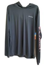 Columbia Men's Size Large PFG Hoodie Gray Long Sleeve Shirt Omni-Shade - $49.97