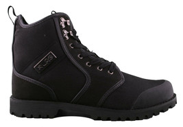 LRG Sycamore Black Leather Nylon Combat Hiking Boots 8 US image 2