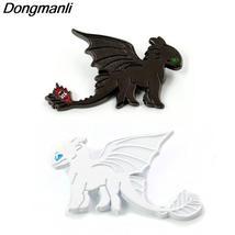 P3772 Dongmanli Night Fury Enamel Pin Brooches Cartoon Creative Metal Br... - $12.99