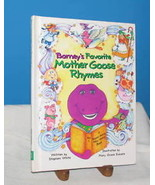 BARNEY'S FAVORITE MOTHER GOOSE RHYMES 1993 ILLUSTRATED - $14.36