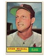 1961 Topps #290 Stan Musial, St. Louis Cardinals - $40.65
