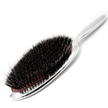 Pure Boar Bristle Oval Hair Paddle Brush Antistatic With Air Bag Salon C... - $14.08