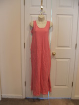 new in pkg Newport News pink punch  beach cover up long  casual dress size small - $21.77
