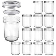 Wide Mouth Mason Jars 16 OZ, KAMOTA 16 OZ Mason Jars Canning Jars Jelly ... - $41.88