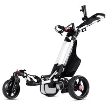120 W Foldable Electric Golf Push Cart with Umbrella Holder - $749.05