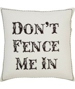 Western Ranch Farm Lodge Tan Pillow Don't Fence Me in Farmhouse Country ... - $27.65