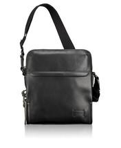 NIB TUMI Harrison Glendale Crossbody bag black leather travel carry on $345 - $227.95