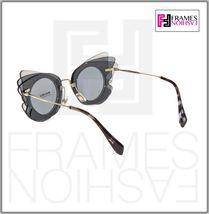 MIU MIU Overlapping Game 02S Grey Silver Mirrored Butterfly Sunglasses MU02SS image 3