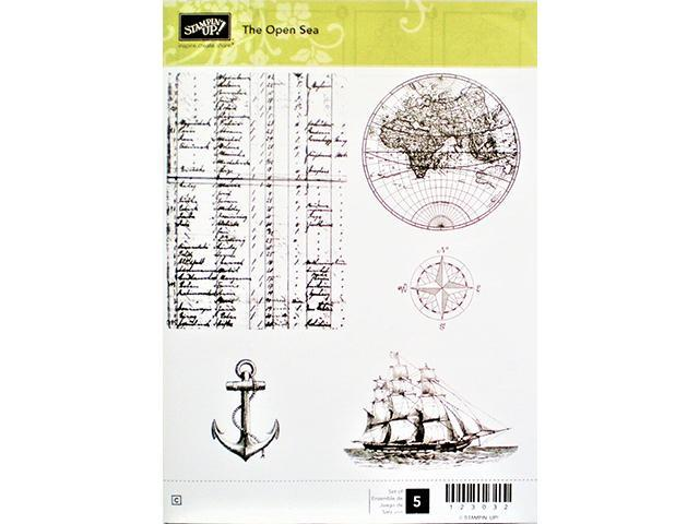 Primary image for Stampin' Up! The Open Sea Rubber Cling Stamp Set, #123032