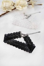 Women's Fashion Jewelry Retro Vintage White Floral Cut Out Lace Choker N... - $5.49