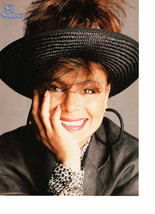 Paula Abdul teen magazine pinup clipping large black eaaring black hat