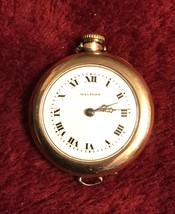 Antique Waltham 7J Hunting Pendant  Watch 3/0s With Warranted B&B Peer 20 Year - $54.95