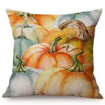 Yellow Pumpkin Watercolor Throw Pillow Cover for Autumn Harvest Thanksgi... - ₹693.36 INR